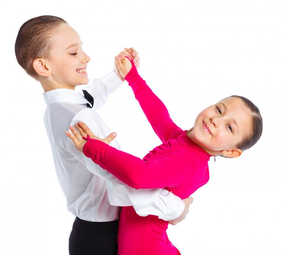 Young ballroom dancers